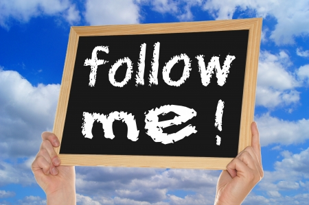 blackboard - follow me photo