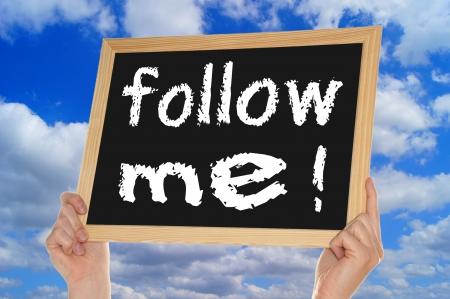 me: blackboard - follow me