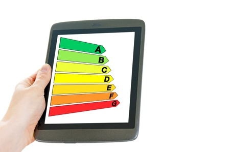 tablet pc with energy scale photo