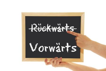 backward: blackboard with the words forward backward
