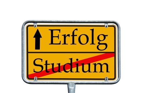 sign with the german words study and success Stock Photo - 14090052