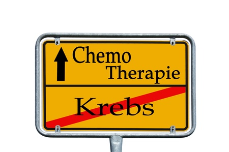 incurable: sign with the german words Chemotherapy and Cancer