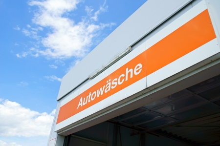 Sign with the german word carwash photo