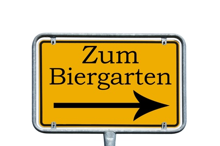 sign with the german words to the beer garden Stock Photo - 14345064