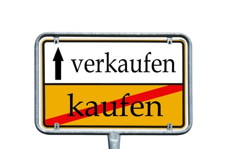 sign with the german word buy and sell photo