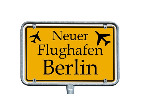 brandt: sign with the german words new airport berlin