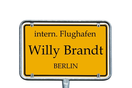 sign with the german words airport willy brandt photo