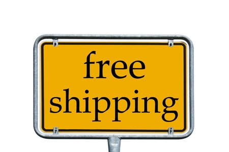 sign with the words free shipping photo