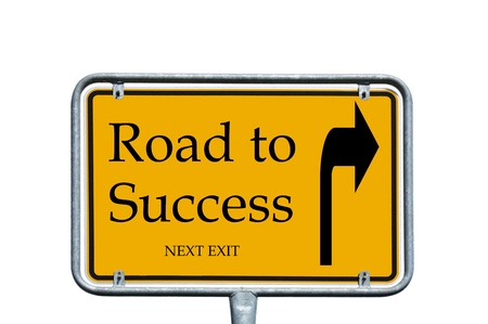sign with the words road to success photo