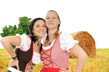 two pretty women in dirndl photo