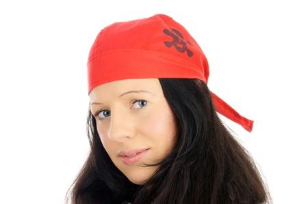 piratenhoed: Vrouw met een piraat hoed