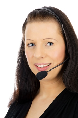 Woman with headset Stock Photo - 15157908