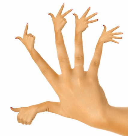 abnormal: the perfect hand Stock Photo