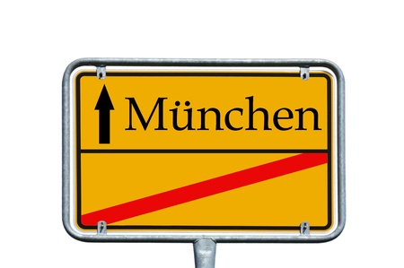ortsschild: sign - munich Stock Photo