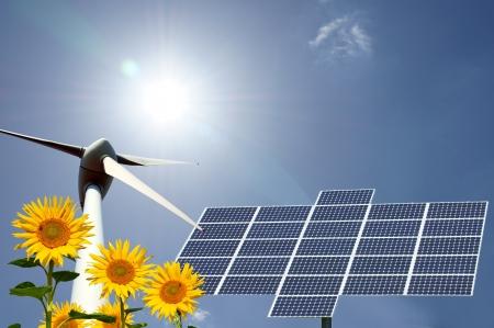 energies: renewable energies Stock Photo