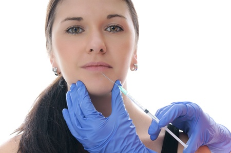 airborn: woman get a botox injection
