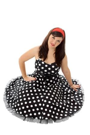 petticoat: Pin Up Girl Stock Photo
