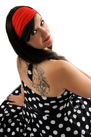 Sixties Girl with Tattoo Stock Photo - 15693858