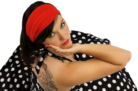 Sixties Girl with Tattoo photo