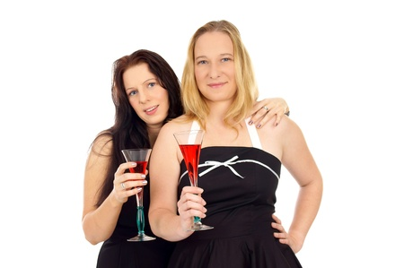 two pretty women with champagne glass Stock Photo - 15693831