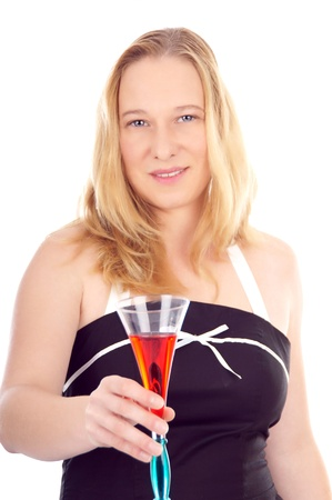 pretty women with champagne glass photo