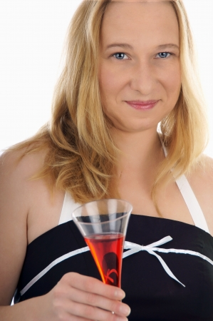 30 s: pretty women with champagne glass Stock Photo