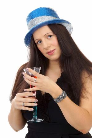 pretty women with champagne glass photo