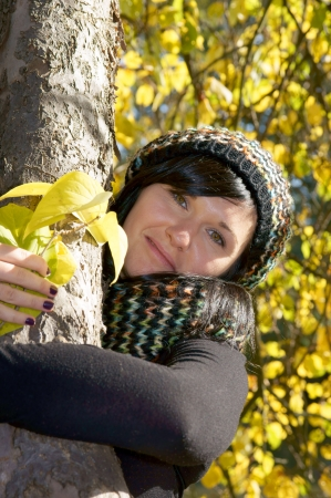 Beautiful woman in autumn forrest Stock Photo - 16013791