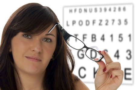 Woman with glasses at the eye doctor Stock Photo - 16239419