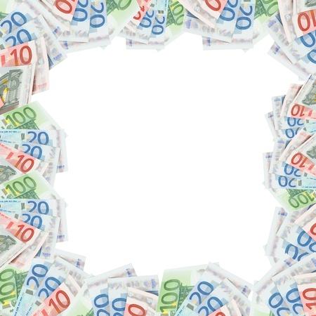 household money: Framework of Euro banknotes Stock Photo