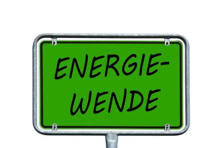 energy suppliers: Sign with the german words energy turn