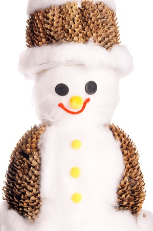 tinkered: mu�eco de nieve hecho en casa Foto de archivo
