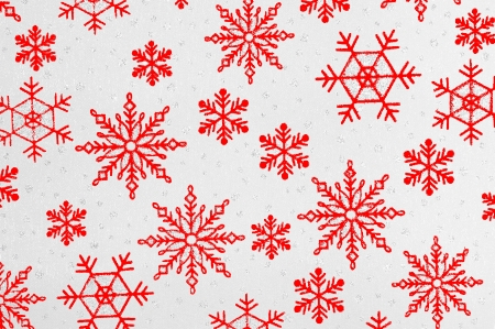 Winter background with red stars