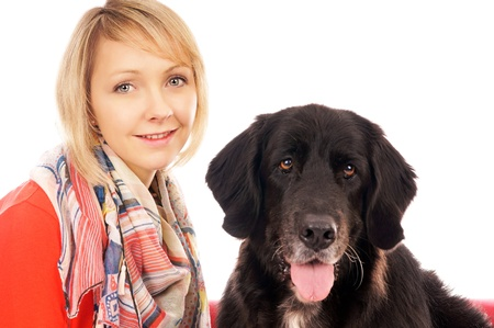 Young woman with her dog