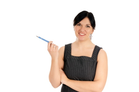 Business Woman with pen Stock Photo - 17276963