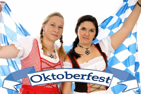 Two young pretty women in dirndl photo