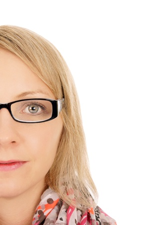 Woman with glasses photo
