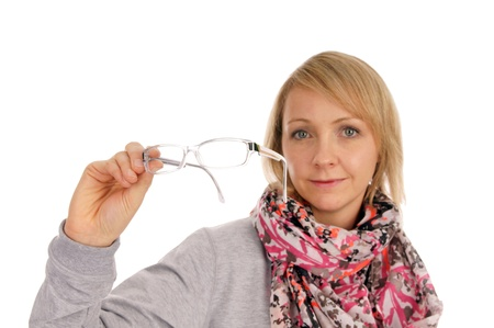 farsighted: Woman with glasses