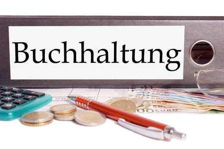 file folder with the german word accounting photo