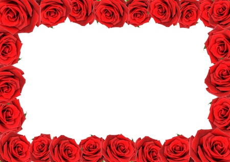 Frame of red roses photo