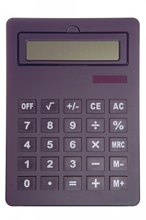 isoliert: black calculator