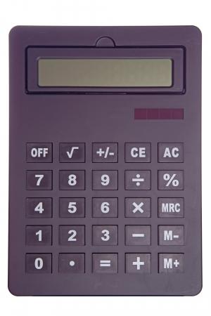 isoliert: black calculator