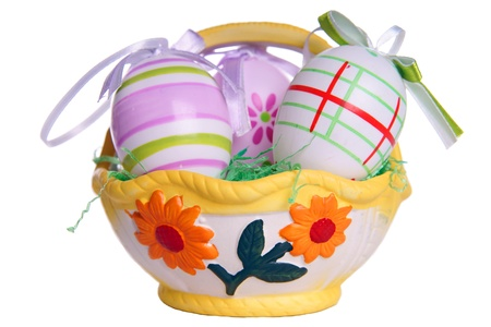 osterfest: Easter basket with eggs