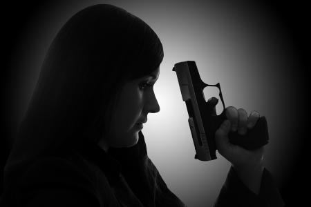 woman with handgun photo