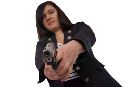 charisma: woman with handgun