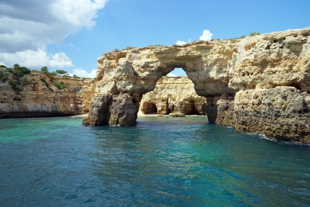 Atlantic coastline with caves in Portugal photo