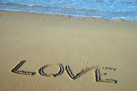 Beach and the word Love photo
