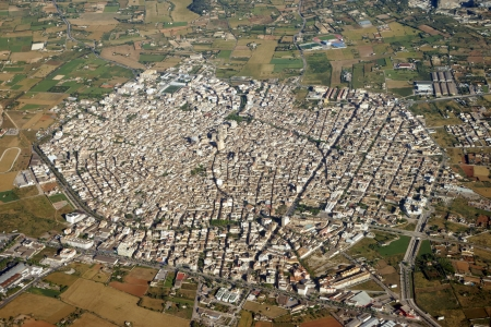aerial photograph: Aerial photograph of city