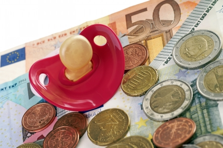 teats: Pacifier and euro money