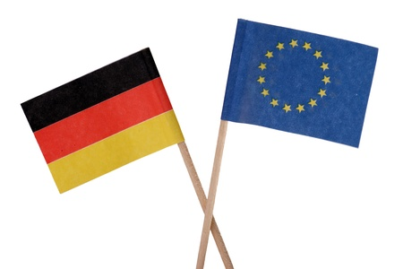 germany flag: European flag e germania bandiera